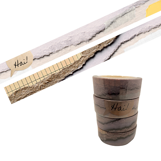 Torn Papers Washi