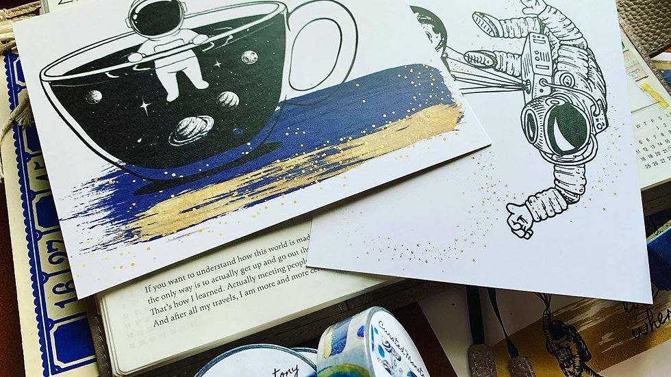 Cup o' Space Postcard