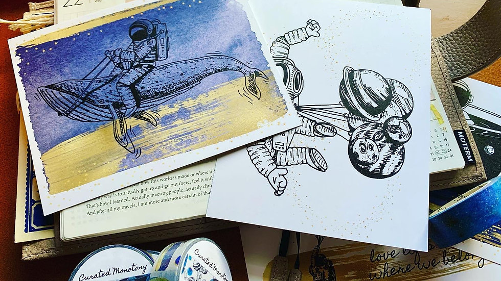 Galaxy Cruisin' Postcard