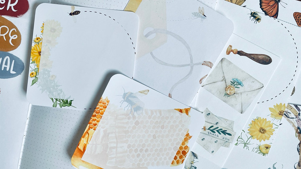 Bees Journaling Cards