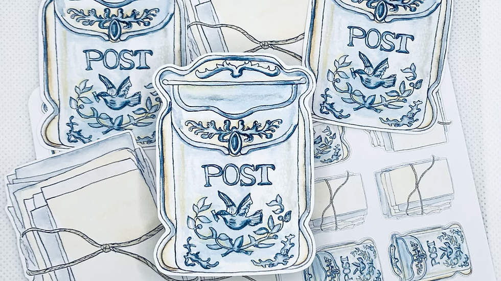 Vintage Post Die Cut Stickers