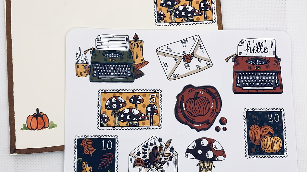 Fall Happy Mail Stickers