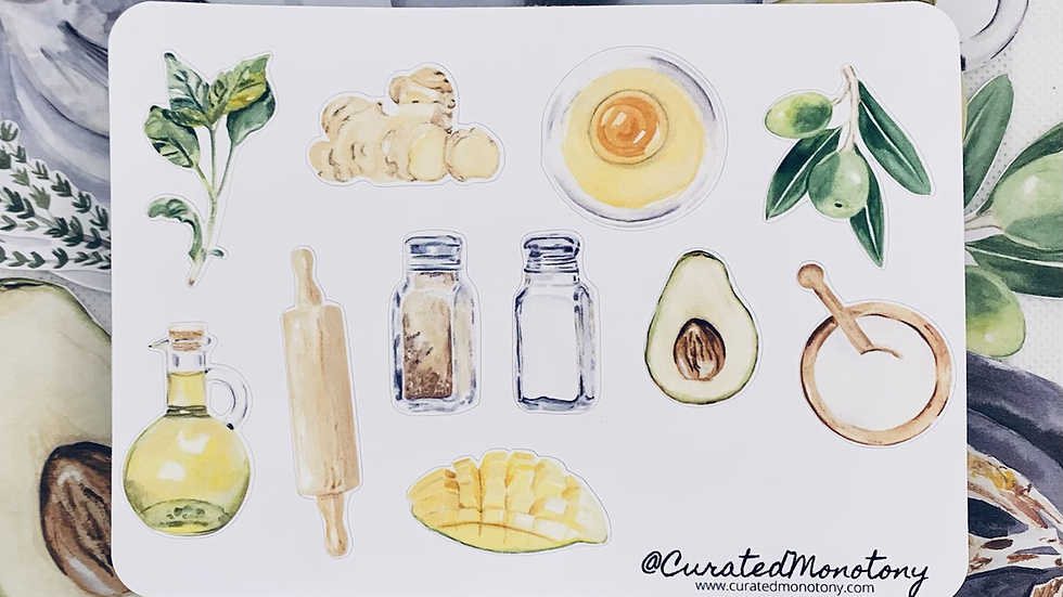 Ingredients Stickers