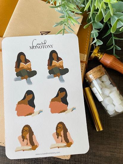 Readin' Sis Sticker Sheet