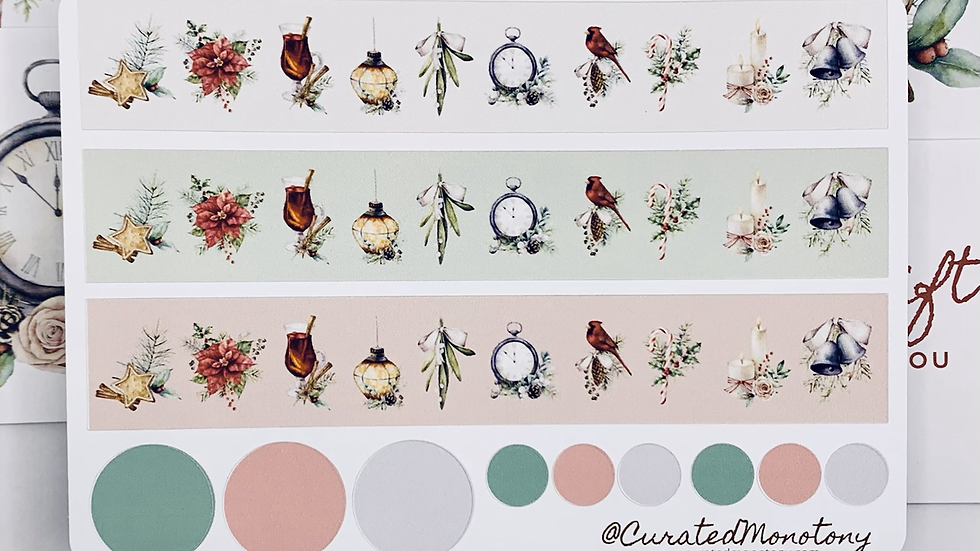 Natural Winter Washi Stickers