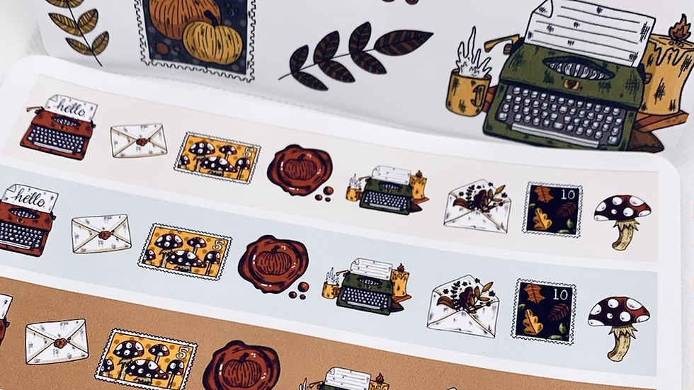 Fall Happy Mail Washi Stickers