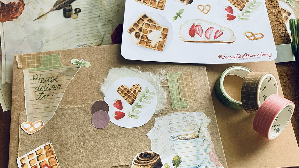 Lovely Waffles Stickers