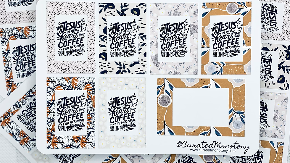 Jesus and Coffee Stickers