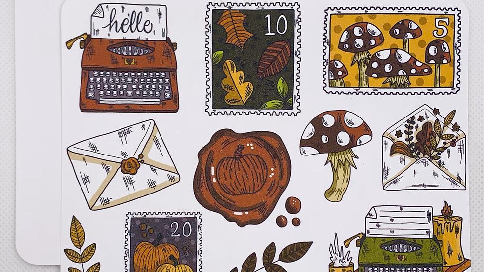 Fall Happy Mail Postcard Set