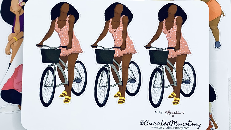 Cyclin' Sis Stickers