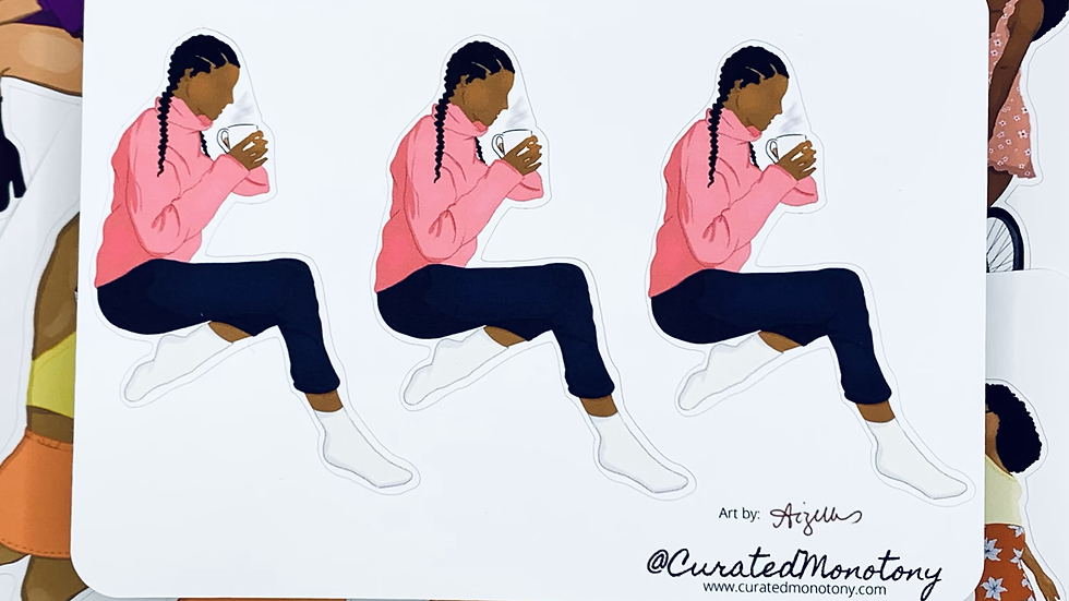 Tea Sippin' Aunty Stickers