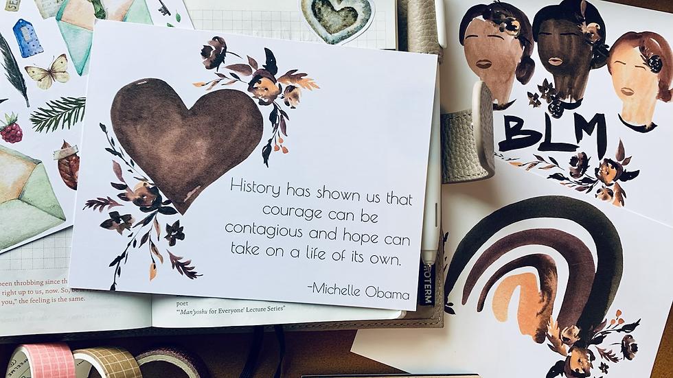 Shades of Brown HOPE Postcard