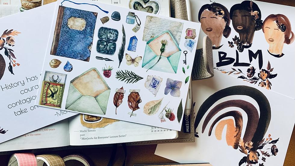 Snail Mail Starter Kit Postcard