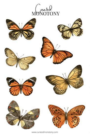 Butterflies Sticker Sheet