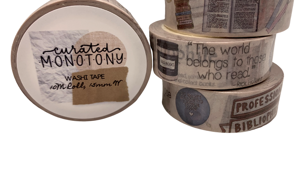 Read, Rest, Repeat Washi
