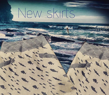 #new #skirts #whales #sea #fish #waves