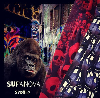 Thought this was a bit fun #gorilla #thoughtful We make the #skirts for #fun #pockets too!__supanovaexpo #artistsalley  come join the fun