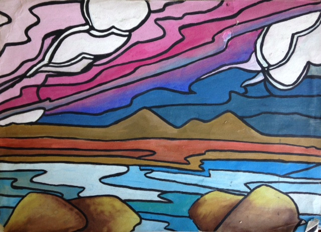 Abstract landscape - 1991
