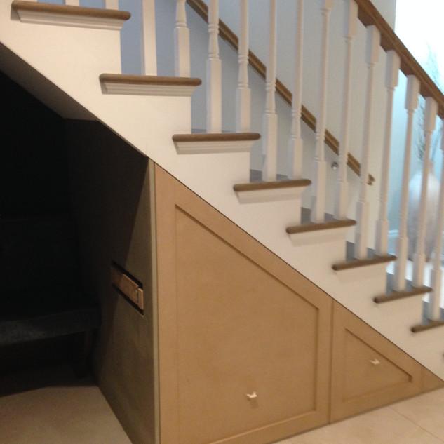 Custom Understair Drawer Storage
