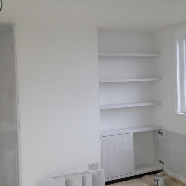 Custom Floating Shelves & Storage