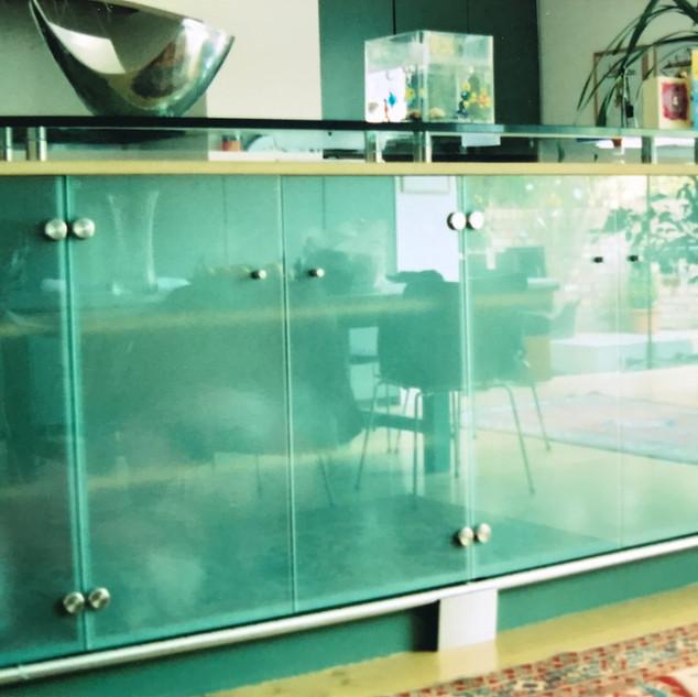 Glass front Kitchen Island