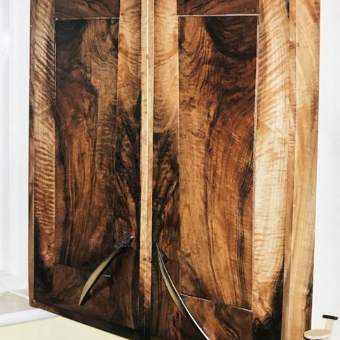 Walnut tool chest
