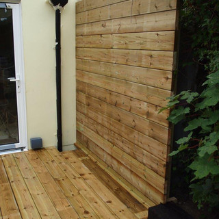 Hardwood & Railway Sleeper Decking