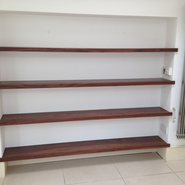 Bespoke Wood Floating Shelves