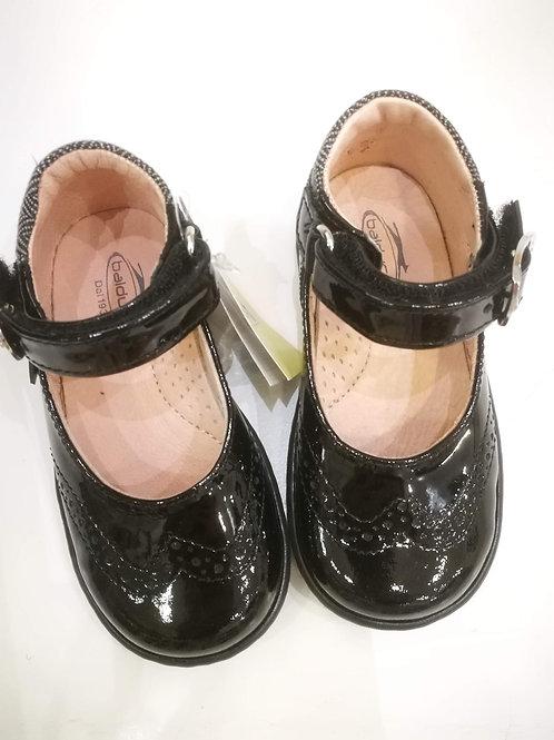 Scarpe bambina ballerine nere in vernice con plantare Balducci