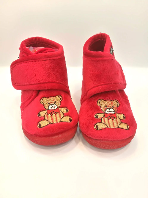 Copia di Pantofoline calde primi passi con strappo e suola gomma