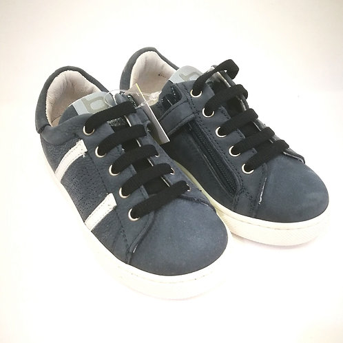 Scarpe bambino sneakers blu Balducci apertura laterale con zip NO LACCI