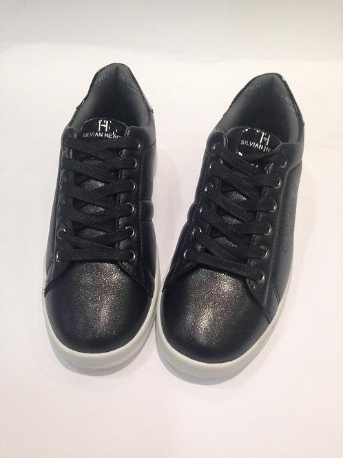 Scarpe bambina Silvian Heach sneakers nere ecopelle