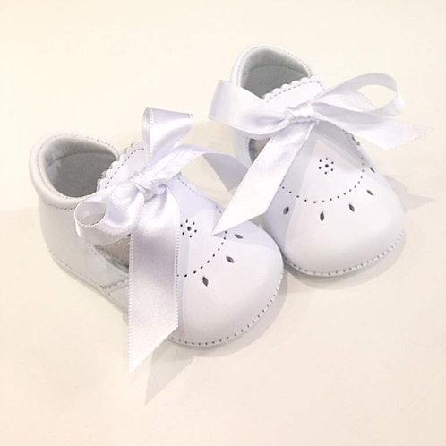 Scarpine neonata 3-12 mesi ballerine bebè bianche battesimo