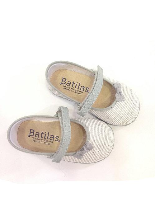 Scarpe ballerine bambina Batilas cotone naturale plantare in lattice