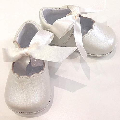 Scarpine neonata 3-12 mesi ballerine beige battesimo