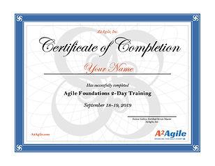 AgileBasicsCertificateofCompletionA2Agil