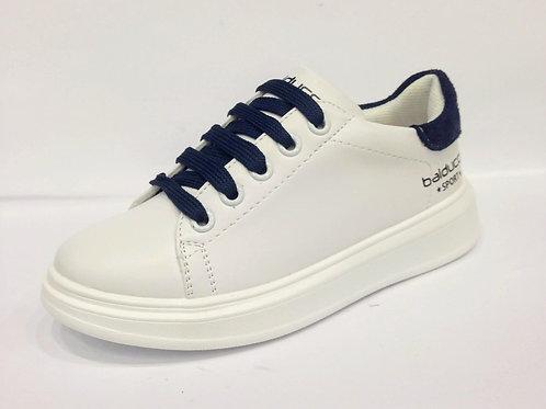 Scarpe bambino sneakers bianche Balducci apertura laterale con zip NO LACCI