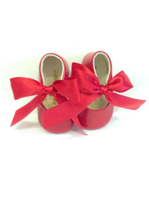 Scarpine neonata 6-10 mesi ballerine bebè rosse