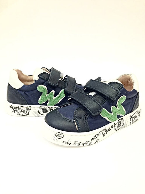 Scarpe bambino sneakers blu con plantare Balducci apertura a strappo