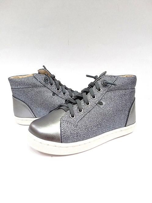 Scarpe bambina sneakers argento in pelle Oldsoles plantare e apertura l