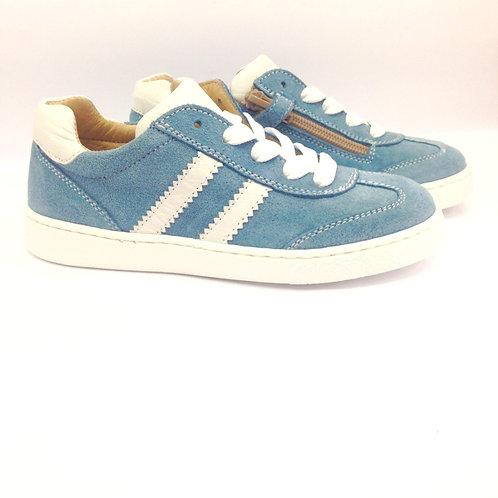 Scarpe bambino bambina sneakers artigianali con plantare zip laterale con zip