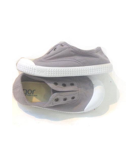Scarpe bambino bambina sneakers in cotone senza lacci con soletta estraibile