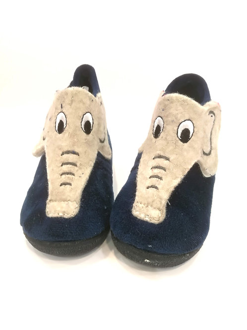 Pantofoline calde primi passi con strappo e suola gomma