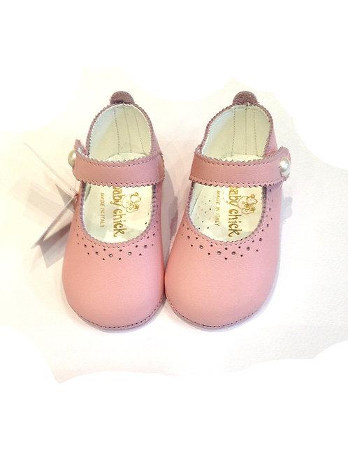 Scarpine neonata 3 -12 mesi ballerine bebè rosa battesimo