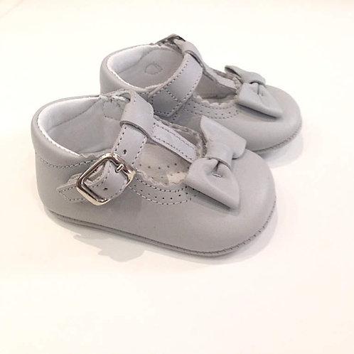 Scarpine neonata 3-12 mesi ballerine grigio perla