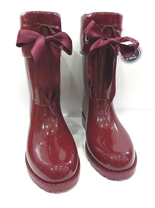 Stivali da pioggia bambina bordeaux