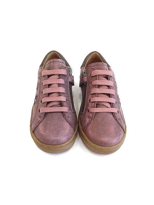 Scarpe bambina sneakers in pelle nickel free senza allacciatura