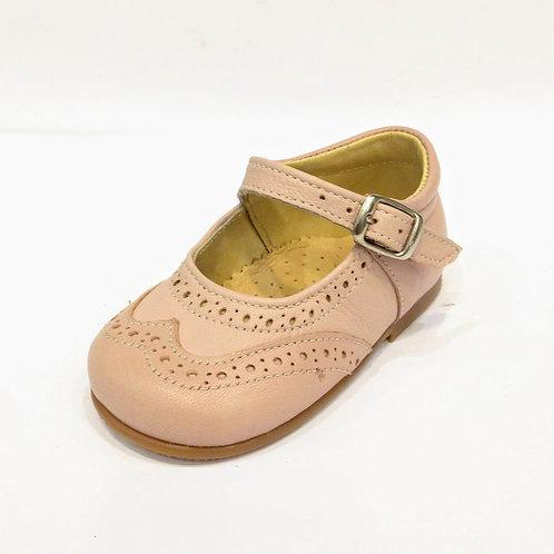 Scarpe primi passi bambina in pelle ballerine con plantare modello Mary Jane