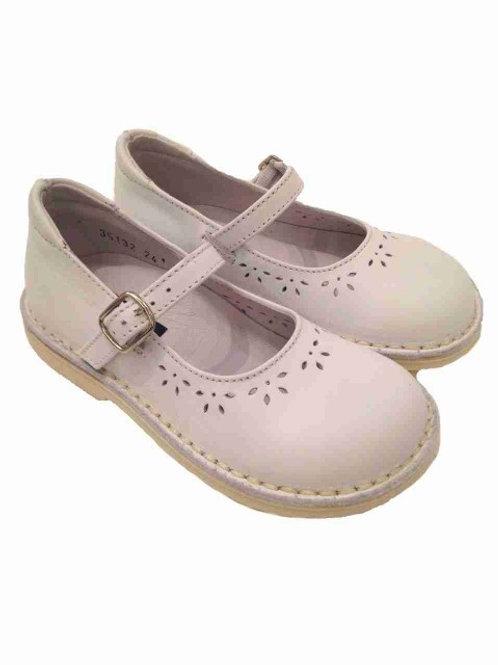 Ballerine Mary Jane scarpe bambina pelle bianche