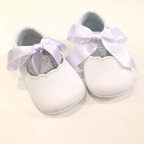 Scarpine neonata 3-12 mesi ballerine bianche battesimo